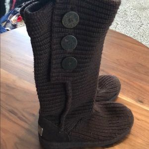 UGG Brown Sweater Boots